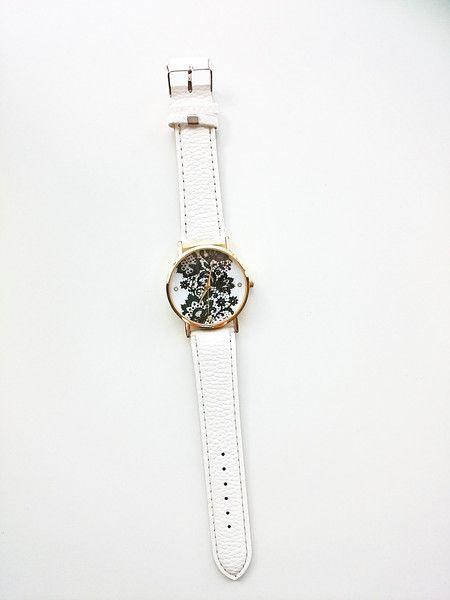 Elegancki zegarek biały koronka- na prezent - barbarella-br - Zegarki na rękę