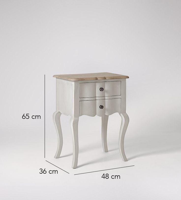 Swoon Editions Bedside table, French style in French Grey - £169