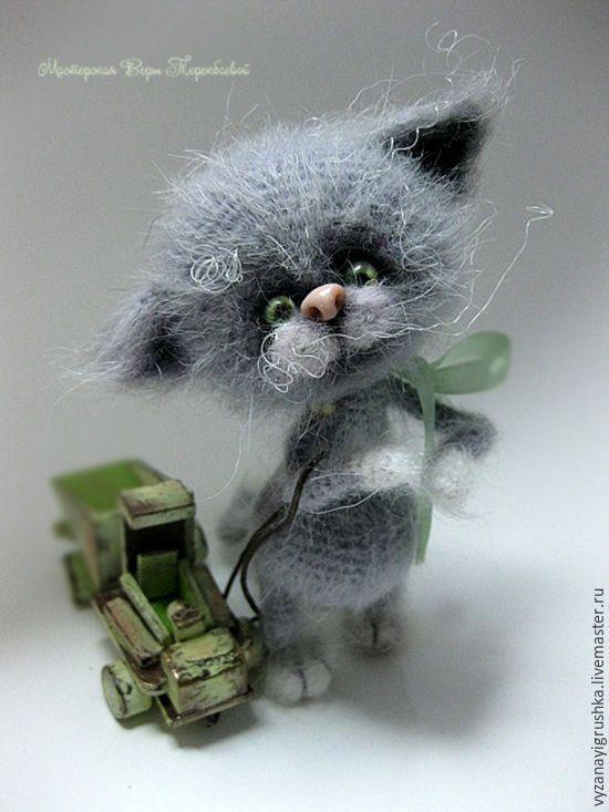Купить Котик серенький - серый, котенок, котик, котэ, коты и кошки, пушистый котенок
