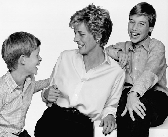 The brotherly bond so evident in Nicky Philipps's portrait of William and Harry is especially poignant after a look at the subjects when they were young in celebrity photographer Swannell's sweet family portrait with their mum, the late Diana, Princess of Wales.