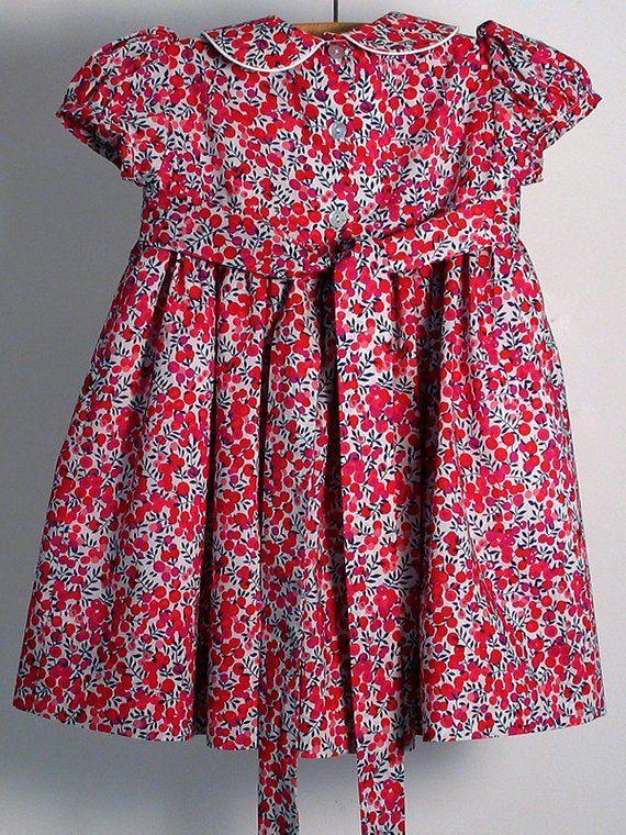 3c56d9a4b49df Liberty Tana Lawn Dress made in red Wiltshire   Liberty London dress ...