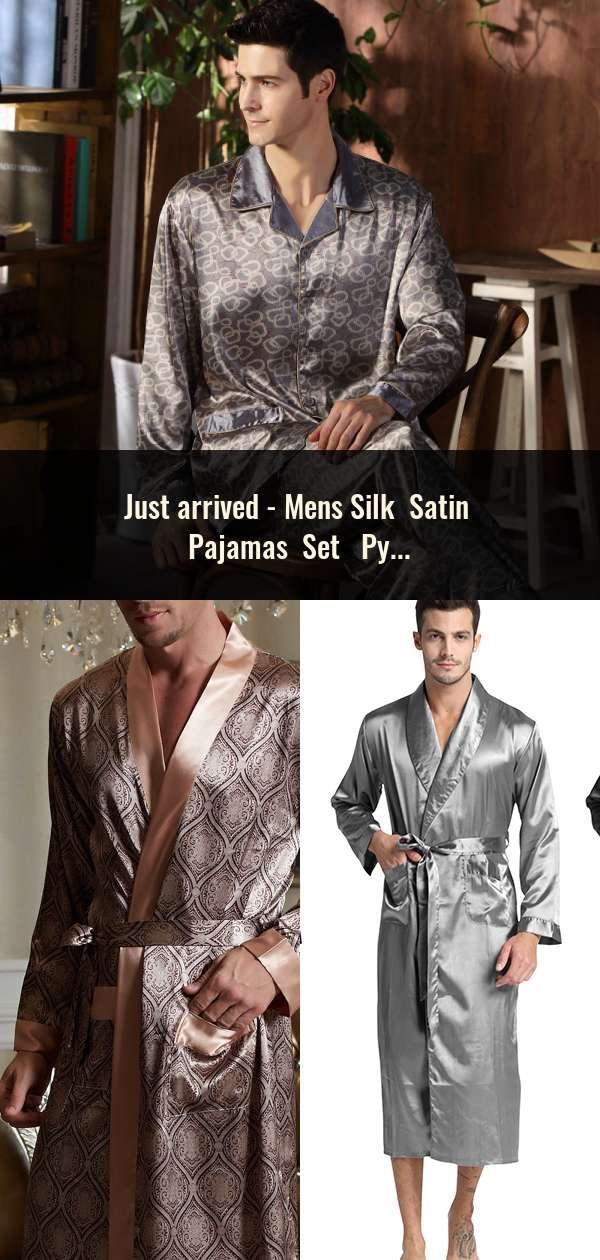 Mens Silk Satin Pajamas Set Pyjamas Set Pjs Sleepwear Loungewear S ... b68e8f4fc