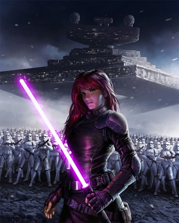 Mara Jade,wife of Luke Skywalker....