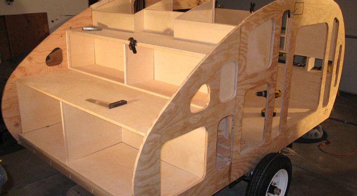 Garage-Built Wyoming Woody Teardrop Trailer With Detailed Plans