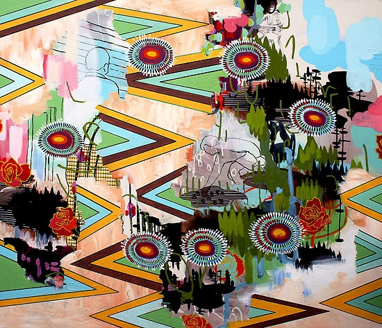 image from the silver age by Randi Antonsen acrylic on canvas 130 × 140 cm