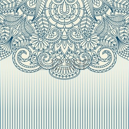 Illustration With Vintage Pattern For Print. Royalty Free Cliparts, Vectors, And Stock Illustration. Pic 15584444.