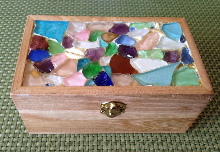 95 best sea glass shell beach crafts images on pinterest for Glass boxes for crafts