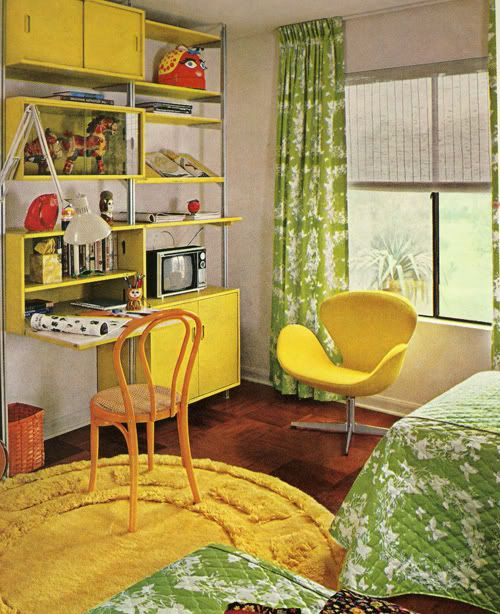 I love my yellow and green bedroom. This one's awesome, too.