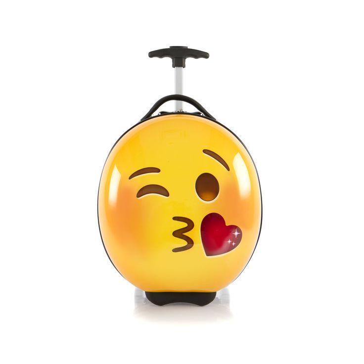 Heys Kids e-Motion Kindertrolley 41 cm 2 Rollen Kiss #emoji #kinderkoffer #kiss