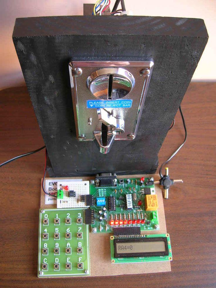 máquina selectora de monedas para venta automática de productos, utilizando el sistema EB88 (parte 2)