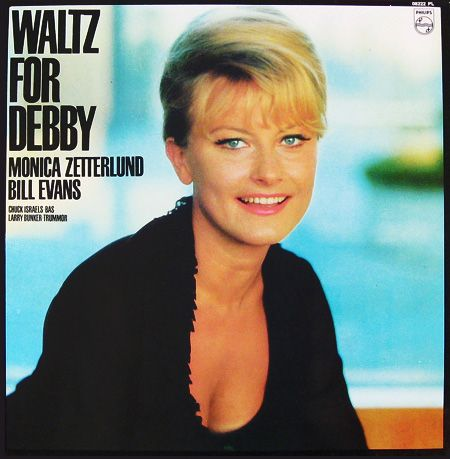 "Monica Zetterlund: Waltz for Debby Label: Philips 08222 12"" LP 1964 Design: Jan Wahlquist Photo: Lars Falck"