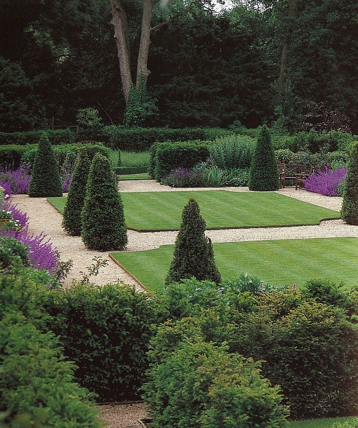 Beautiful lawn, edging & topiary