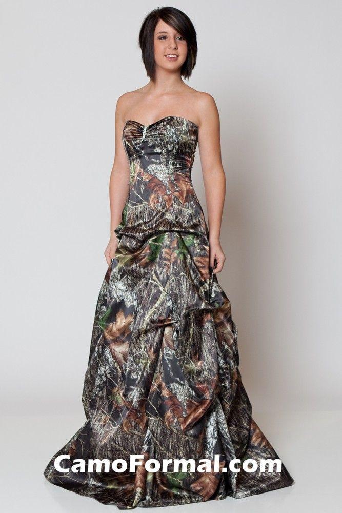 48 best camo bridesmaids 39 dresses wedding dresses images for Camo ribbon for wedding dress