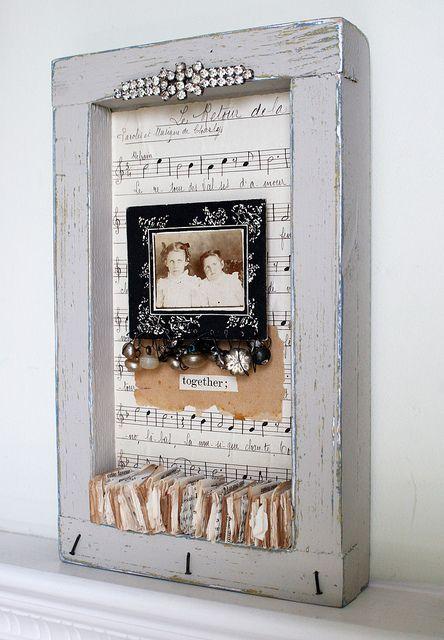Shadow box collage