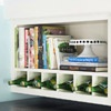 Custom Elements - A little creativity yielded this savvy storage nook.  By inserting dividers into this shelf, it went from one big space to a built-in wine rack and cookbook shelf.