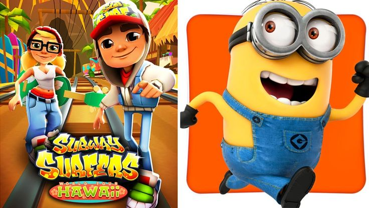 Subway Surfers Hawaii vs Despicable Me 2 Minion Rush fun gameplay