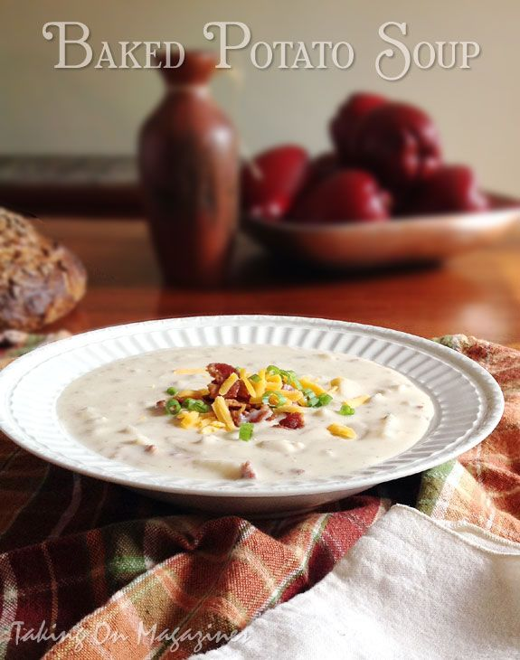 {Slow Cooker} Baked Potato Soup | Taking On Magazines | www.takingonmagazines.com