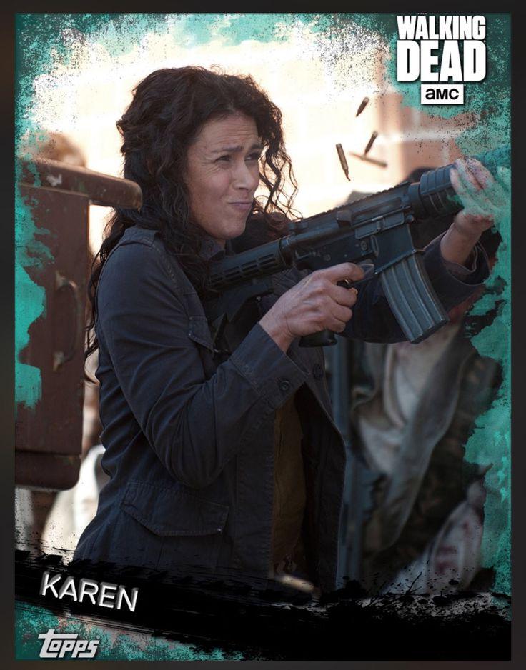 Karen (Teal Parallel) Insert Card The Walking Dead 2016 Topps