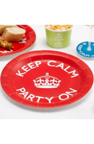 Pack of 8 Keep Calm Plates - Birthday Party Ideas u0026 Summer Celebration decorations  sc 1 st  Pinterest & 21 best Keep Calm! Party Decoration Ideas images on Pinterest ...