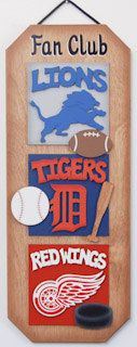 Detroit Lions Football Detroit Tigers Baseball Detroit Red Wings Hockey sports sign kids room sign teen room decor man cave gifts for guys by UCsportsbyBill on Etsy