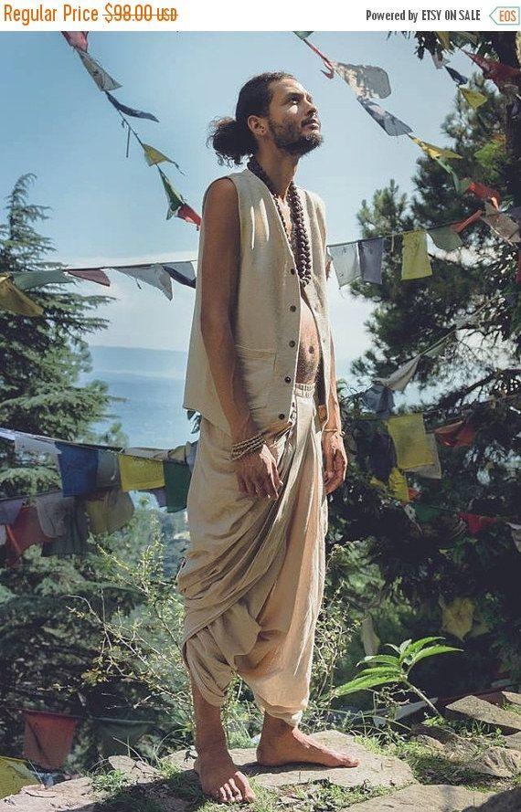 New Moon Rabatt Bio Baumwolle Dhoti Hose von PrimitiveTribalCraft