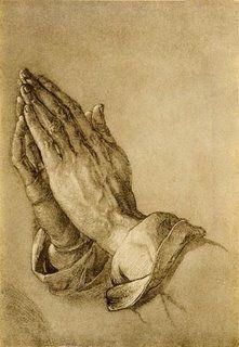 """""""As mãos que Oram"""" - desenho de Albrecht Dürer, que representarão as mãos de seu irmão Albert que por ele se sacrificou trabalhando nas minas de carvão para que ele pudesse estudar."""
