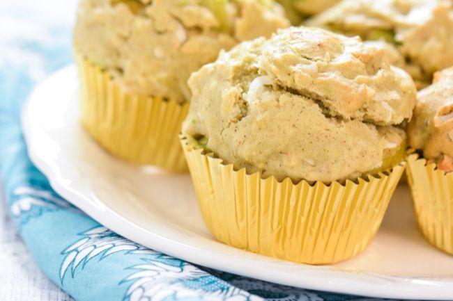 Gluten-free Avocado Coconut Zucchini Muffins