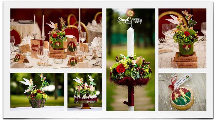 Peter Pan & Tinkerbell themed baptism party decor www.simplyhappy.ro www.facebook.com/faitamain