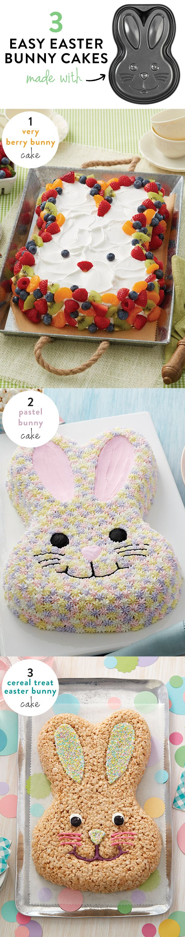 3 different Easter cakes from 1 bunny cake pan @walmart