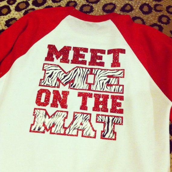 Wrestling custom shirt by Rocknmamadesigns on Etsy Is it any question that I need this shirt?