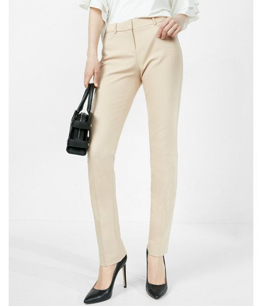 Neutral. Turn Heads. Create Headlines. The Columnist Pant Stands Out With A Sexy Silhouette And A Modern Fit. Sleek And Sophisticated, This Closely Tailored, Leg-Lengthening Style Provides A Slimming Effect.. Womens Columnist Pants. 4 Long