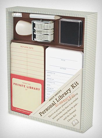Personal Library Book Sharing Kit. $18.00
