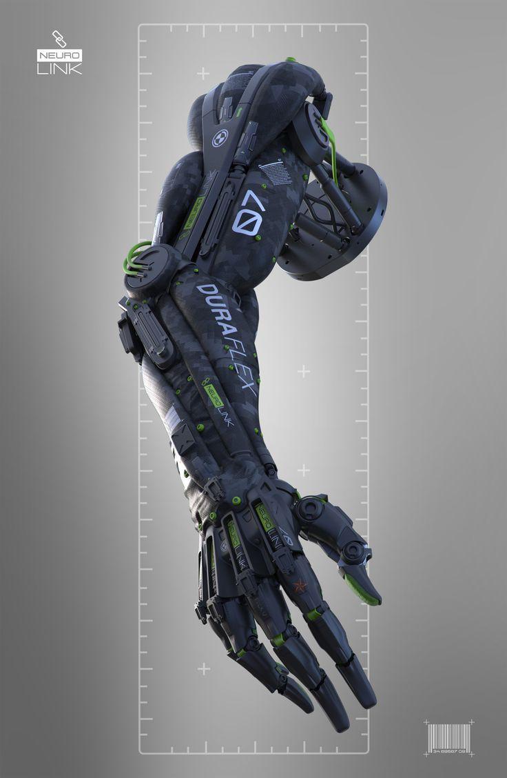 Artstation neurolink prosthetic arm igor sobolevsky for Sci fi decor