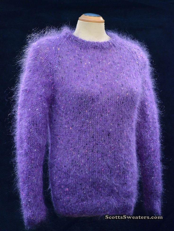 614-014 Women's Violet Crewneck English Mohair Sweater
