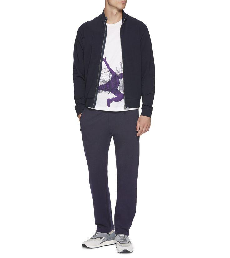 Темно-синие спортивные штаны из ткани stretch-cotton и модала