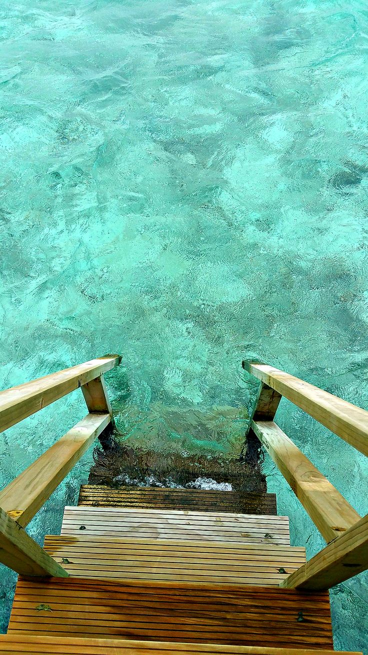 That's one small step for man, one giant leap for holidays :-) :-) https://cruisingmaldives.wordpress.com/ #maldives #villa #staircase #lagoonentrance #reef #island #blue #ocean #holidays #fish #luxury #privacy #packages #cruise #resort
