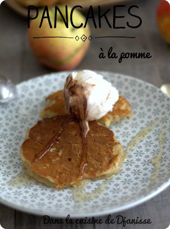 Pancakes à la pomme sans gluten et vegan pour le petit-déjeuner, le gouter ou pourquoi pas le dessert des petits et grands gourmands