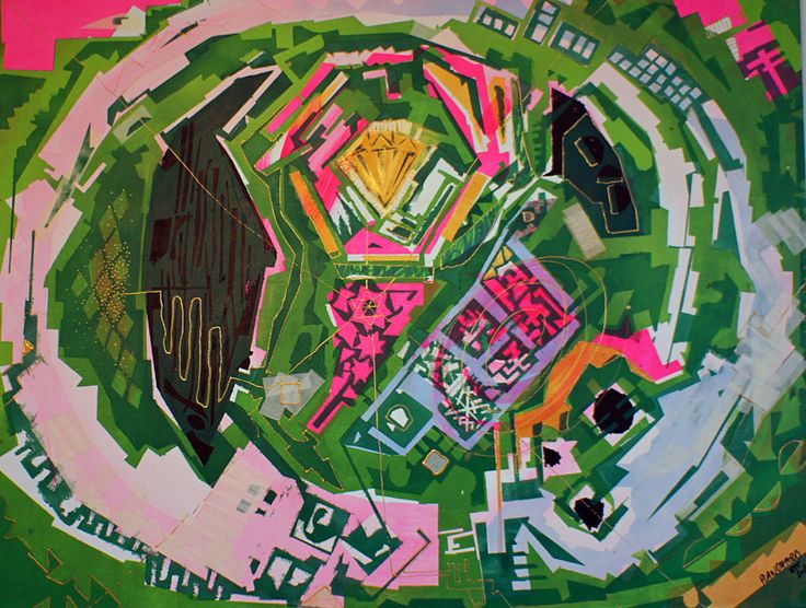 -LABYRINTHE- / PEINTURE / GRAND FORMAT / HUILE-BOMBE SEPT 2010 http://planchardpeinture.tumblr.com/