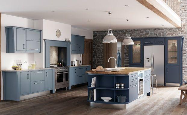 Blue kitchen cabinets, Bricks and Brick walls on Pinterest