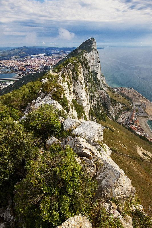 Gibraltar rock with Spain in the background; been there.