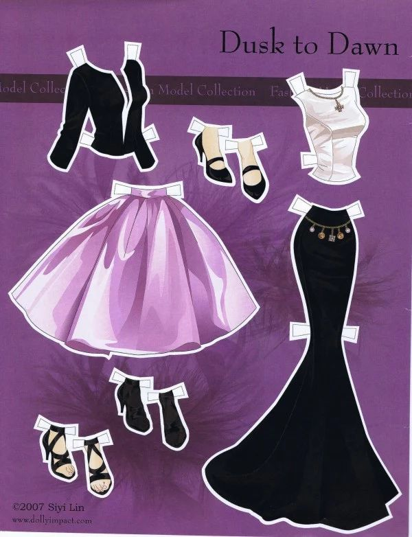 Barbie Fashion Collection 2: Dusk to Dawn paper doll by Siyi Lin