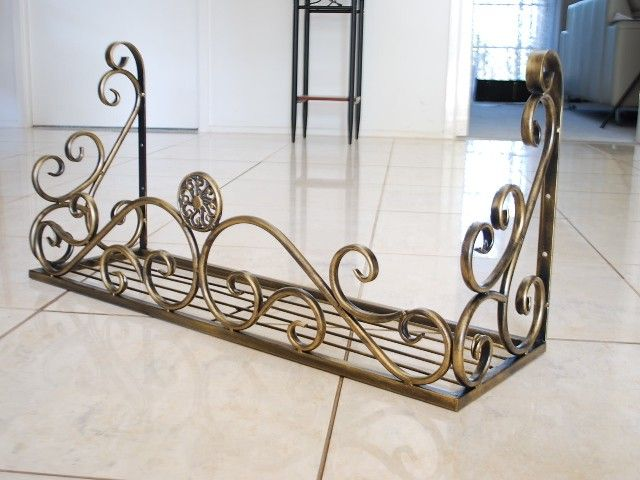 Wrought Iron French Style Wall Flower POT Plant Holder Rack Window BOX 001 | eBay