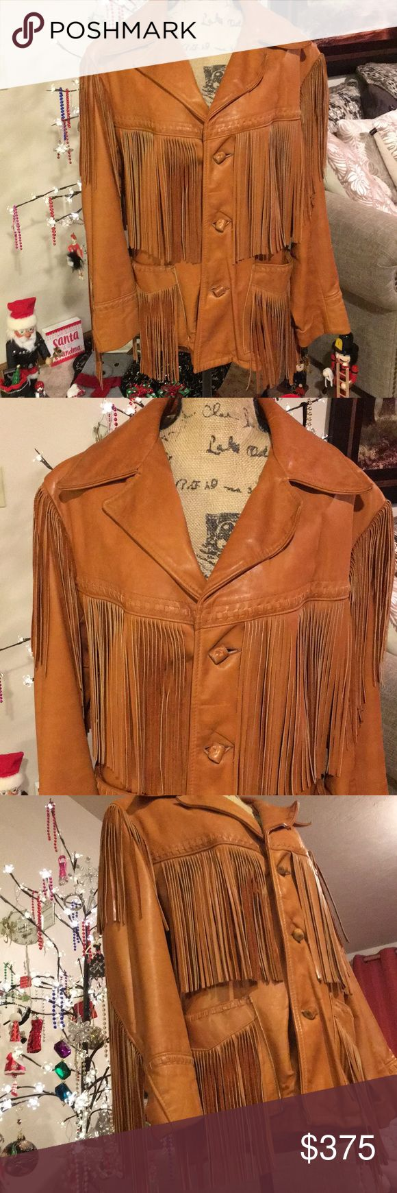 """Schott NYC Leather Rancher Fringe Jacket. This authentic western styling rancher fringe jacket by Schott NYC is amazing. The leather is so soft and supple. Absolutely beautiful attention to detail. Men's size 42. Brand new. Pit to pit approximately 21"""" and shoulder to hem approximately 29"""". Schott NYC Jackets & Coats"""