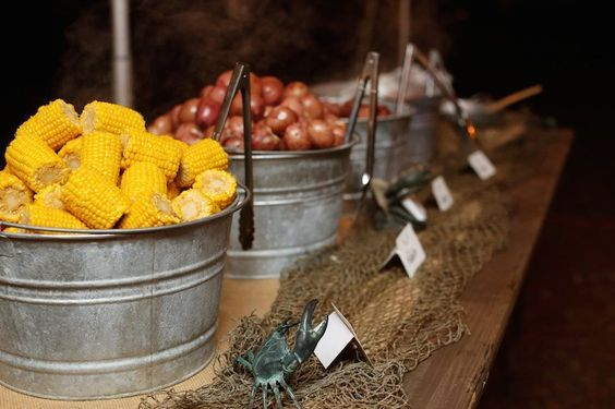 Rustic Wedding Food / http://www.deerpearlflowers.com/rustic-buckets-tubs-wedding-ideas/2/