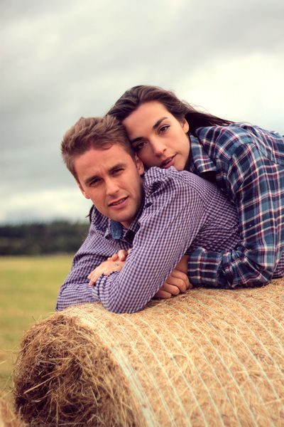 Hay Bales Engagement Shoot Scotland Couple Jess Hind Photography