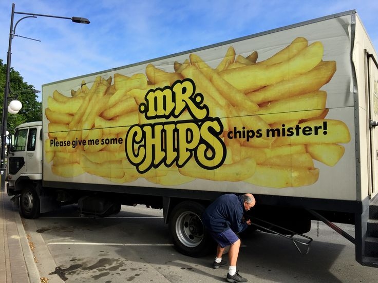 """Mr Chips"" popular brand of Frozen French-fries (Chips in New Zealand). The most popular brand of chips in New Zealand.     (Business started by Rodney Crisp.... Could have been Mr Crisp Chips!).  Bill Gibson-Patmore.  (iPhone image, curation & caption: @BillGP). Bill✔️"