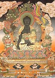 Bhaishajyaguru - the Medicine Buddha  Tibetan Thangka Painting