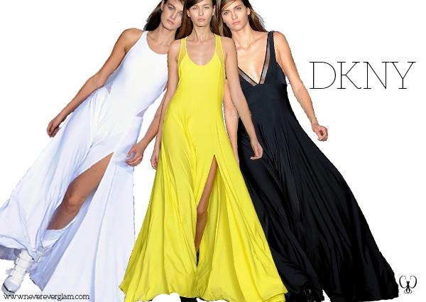 Un clásico es un clásico. Nos quedamos con el vestido minimal, prenda que domina Donna Karan.