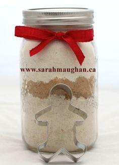 gluten free gingerbread cookies in a mason jar
