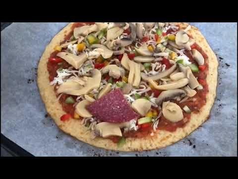 بيتزا عجينة القرنبيط كيو دايت Keto Diet Blomkal Cauliflower Pizza Youtube Chinese Cooking Recipes Easy Cooking Recipes How To Cook Pork
